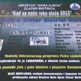 POZIVAMO VAS : Koncert u organizaciji Društva Naša djeca Zlatar Bistrica