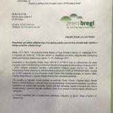 "Projekat ""Zeleni bregi"" – poziv"